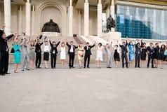 Rejoicing graduates Stock Photo