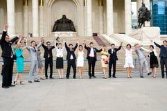 Rejoicing graduates Stock Photos