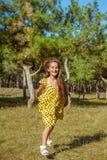 Rejoicing happy little girl Stock Image