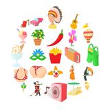 Rejoicing icons set, cartoon style. Rejoicing icons set. Cartoon set of 25 rejoicing vector icons for web isolated on white background Stock Photography