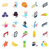 Rejoicing icons set, isometric style Royalty Free Stock Photo
