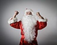 Rejoicing Santa Claus. Royalty Free Stock Photography