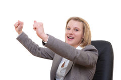 Rejoicing success Stock Photography