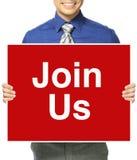 Rejoignez-nous ! Image libre de droits
