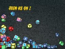 Rejoignez-nous social de réseau dessus illustration libre de droits