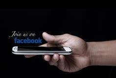 Rejoignez-nous sur Facebook Photographie stock libre de droits