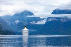 Rejsów liniowowie Na Hardanger fjorden Zdjęcie Stock