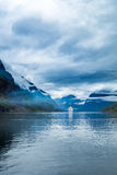 Rejsów liniowowie Na Hardanger fjorden Obrazy Stock