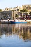 Rejs łódź w schronieniu Obraz Stock