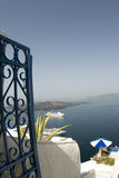 rejs Greece widok statku & bezpiecznej przystani & Obrazy Royalty Free