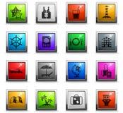 Rejs ikony set royalty ilustracja