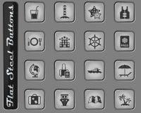 Rejs ikony set ilustracji