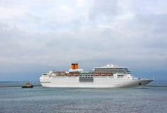 Rejs podróży statek w porcie fotografia royalty free