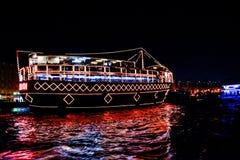 Rejs restauracja przy abra rzepem Dubai obraz royalty free