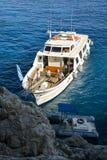 Rejs turystyczna łódź Fotografia Royalty Free