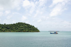 Rejs wyspa Obrazy Royalty Free