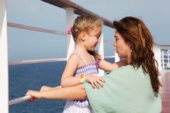 rejsu córki pokładu liniowa matki mówienie Obraz Stock
