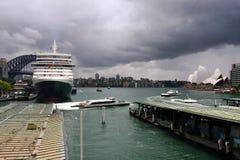 rejsu Elizabeth schronienia królowej statek Sydney Obraz Royalty Free