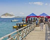 rejsu indonezyjski wyspy komodo mola statek Obraz Stock