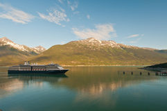 rejsu miejsca przeznaczenia dojechania statek Obraz Royalty Free