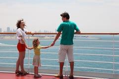 rejsu pokładu rodzinna liniowa pozycja obraz royalty free