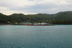 Rejsu port praslin Seychelles Obrazy Royalty Free