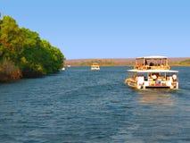 Rejsu Zambezi rzeki zambiowie i Zimbabwe - Wiktoria spadki - Fotografia Royalty Free