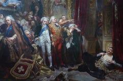 Rejtan som målar vid den polska konstnären Jan Matejko arkivfoto