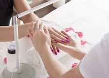 Rejuvenating hands treatment Royalty Free Stock Image
