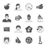 Rejuvenation Icons Set Stock Images