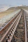 Rek en Pignon op Snowdon Stock Afbeeldingen
