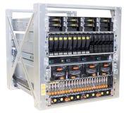 Rek Opgezette Servers Stock Foto