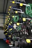 Rek van kabels Royalty-vrije Stock Fotografie