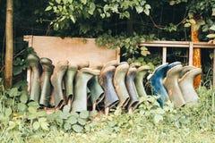 Rek van Laarzen Royalty-vrije Stock Foto