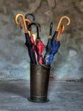 Rek voor paraplu's Royalty-vrije Stock Afbeelding
