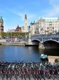 Reka i Stockholm, Sverige, Europa Arkivbild