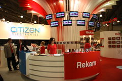 Rekam Exhibition stand Stock Photo