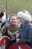 Rekawka - Polish tradition, celebrated in Krakow on Tuesday after Easter Stock Image