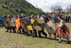 Rekawka - Polish tradition, celebrated in Krakow on Tuesday after Easter. Stock Photography