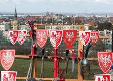 Rekawka - polnische Tradition, gefeiert in Krakau am Dienstag nach Ostern Stockbilder