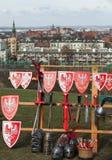 Rekawka - polnische Tradition, gefeiert in Krakau am Dienstag nach Ostern Lizenzfreie Stockbilder