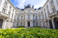 Rekenhof - cour des comptes in Brussel, Belgium. Palace of the Count of Flanders in  Brussel, Belgium Royalty Free Stock Photo