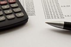 Rekening of boekhoudingsconcept royalty-vrije stock foto's