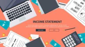 rekening Financiële berekeningen Het werk proces Zakenmanhanden, calculator, financiële verslagen, geld, muntstukken, pen stock illustratie