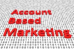 Rekening gebaseerde marketing Royalty-vrije Stock Afbeeldingen