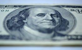 $ 100 rekening van close-up royalty-vrije stock afbeeldingen