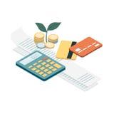 Rekeningen en betalingen royalty-vrije illustratie