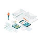 Rekeningen en betalingen stock illustratie