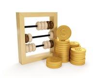rekeningen en de groep geld Stock Foto's