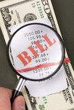 Rekeningen en dollars Royalty-vrije Stock Fotografie